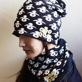 $日本の武の美、正統派戦国ブランドのパイオニア【もののふ】-真田六文銭ニットキャップ